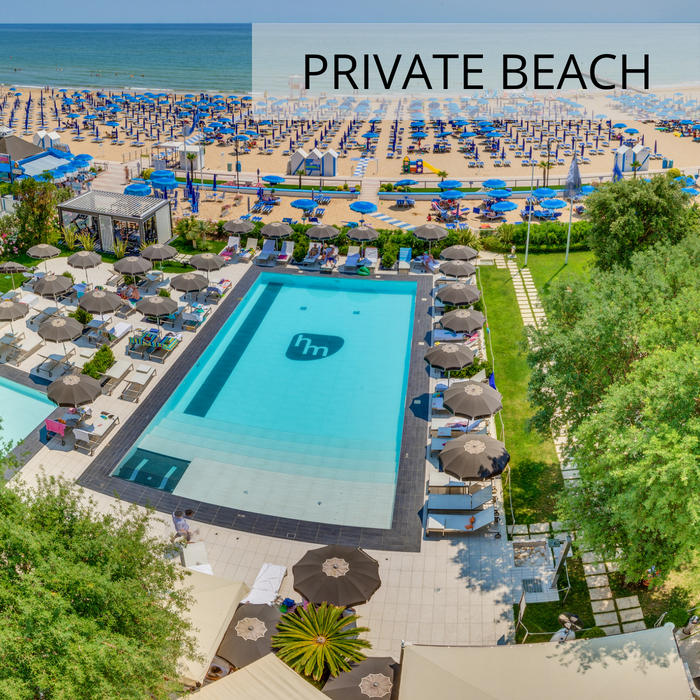 4-star hotel in Jesolo with front sea view